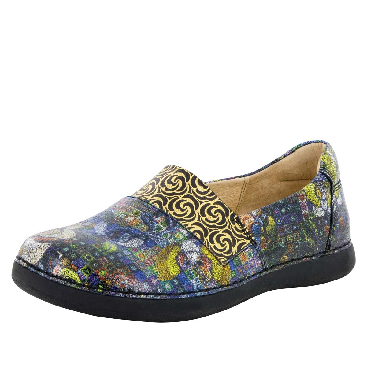 Alegria Glee Gypsy Rose multi-color slip resistant comfort flats for women.  View Larger Photo Email ...
