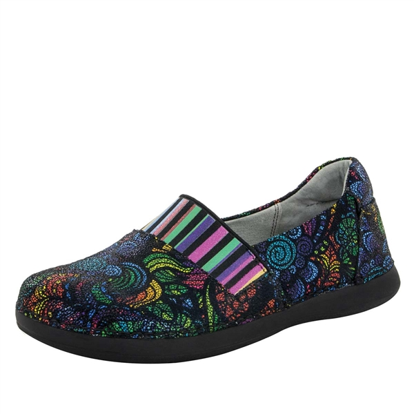 Alegria Glee Stained Glass multi colored slip resistant comfort flats for women