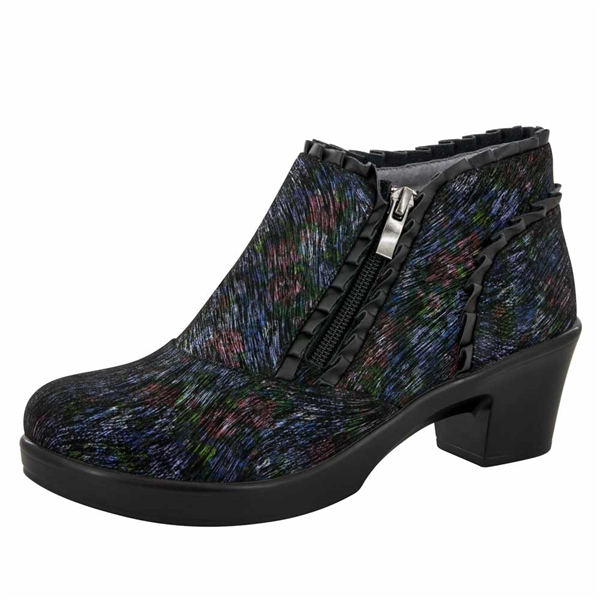 Alegria Hannah Raked Garden side zipper booties