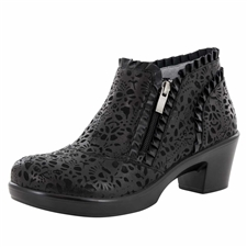 Alegria Hannah Delicut side zipper booties