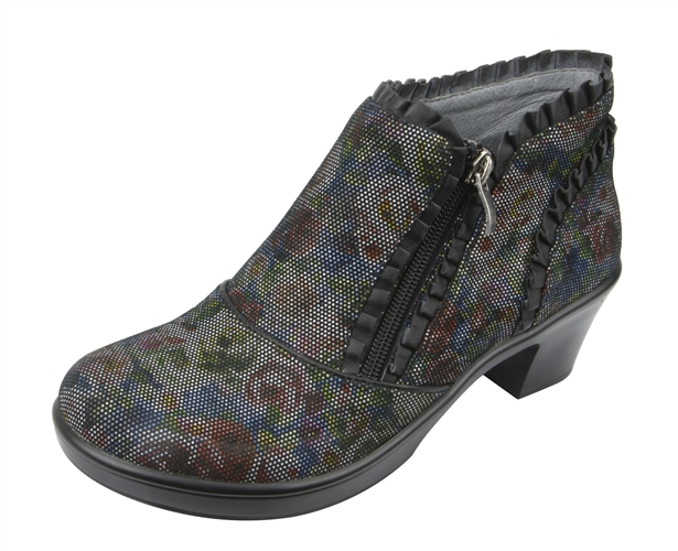 Alegria Hannah Multi Dot Floral ankle boot. View Larger Photo Email ...