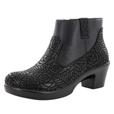 Alegria Hayden Floral Notes side zipper booties