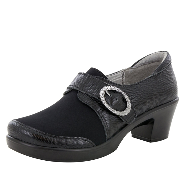 Alegria Holli Spiffy Black stain resistant comfort shoes for women