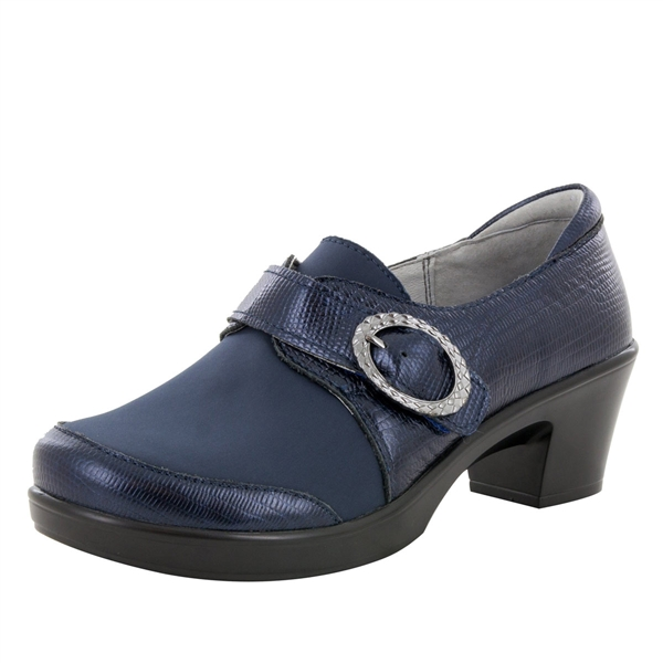 Alegria Holli Spiffy Navy stain resistant comfort shoes for women