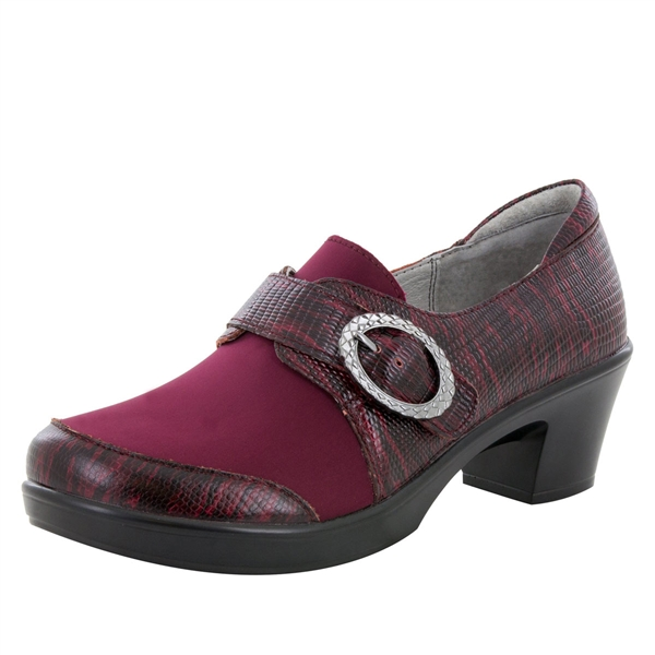 Alegria Holli Spiffy Merlot stain resistant comfort shoes for women