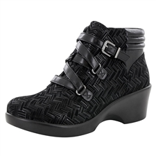 Alegria Indi Interlockin Black dress bootie