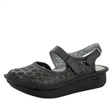 Alegria Jemma Black Burnish Sandal shoes for women