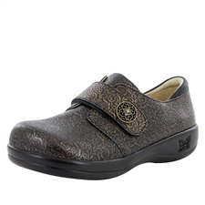 Alegria Joleen Bronze Swirl stain resistant comfort shoes for women with buckle closure