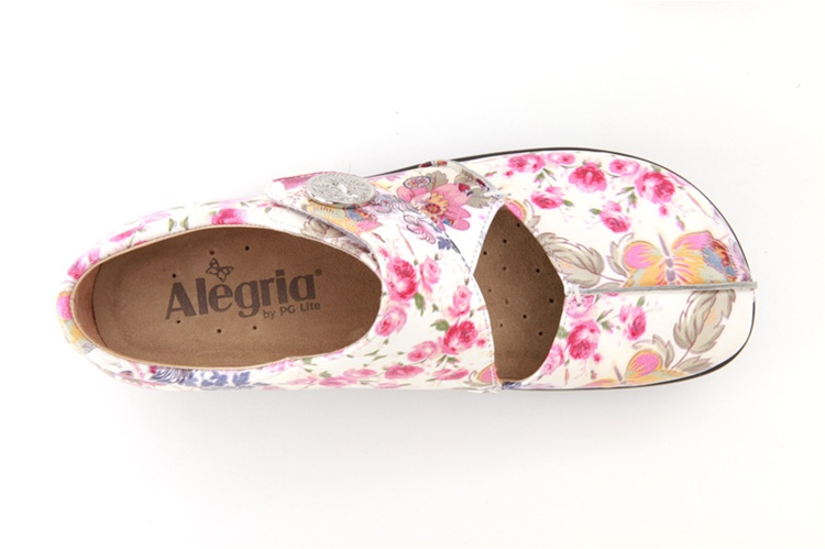 Women's Mary Jane Flats For Sale Alegria Kaitlyn White Women Floral KAI 557 Save Up To 40% 70%