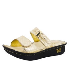 Alegria Karmen Gold Dazzler comfort sandals for women