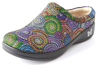 Alegria Kayla Bullseye leather comfort stain resistant clogs for women