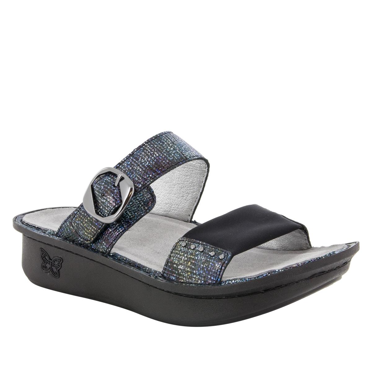 e441f4df971 Keara Glimmer Glam Sandals - Alegria Shoes