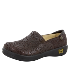 Alegria Keli Choco Emboss Paisley comfort loafer for women