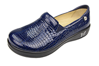 Alegria Keli Blue Croco comfort loafer for women