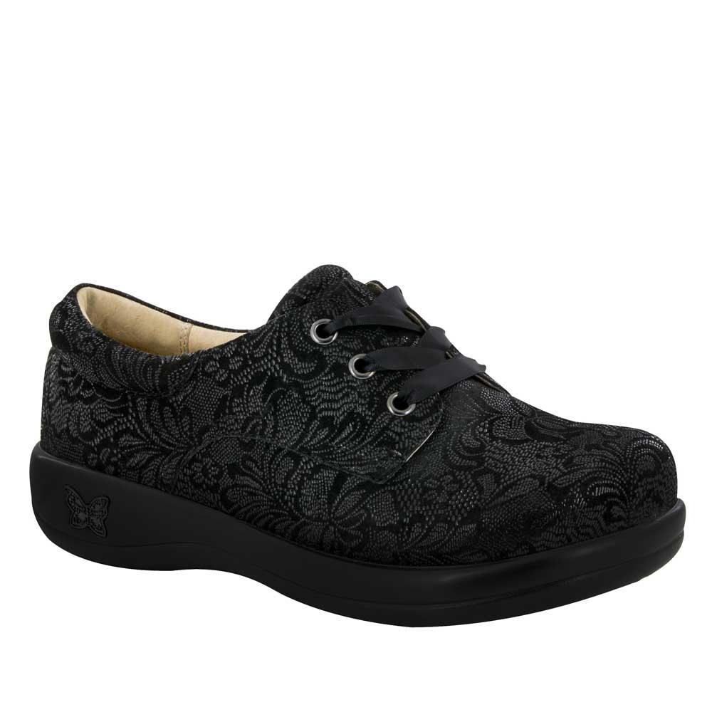 Alegria Shoes Kimi Pro Black Leaf Lace Up Shoe