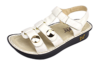 Alegria Kleo Ivory Sheen comfort sandals for women