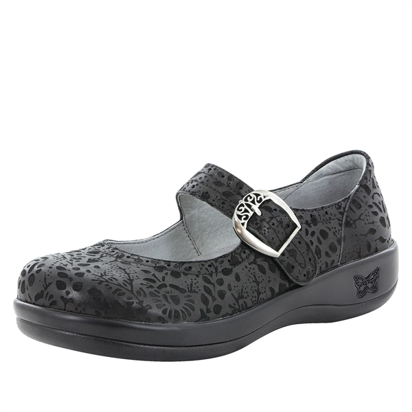 Alegria Kourtney Delicut black stain resistant comfort mary jane shoes for women