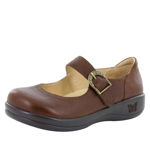 Alegria Kourtney Hazelnut brown stain resistant comfort mary jane shoes for women