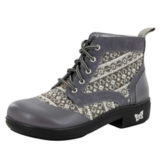 Alegria Kylie Snuggy Grey lace-up boot