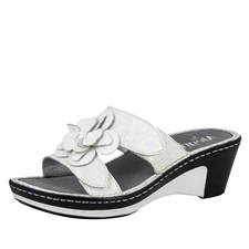 Alegria Lana Pearl Rose leather comfort wedge sandal for women