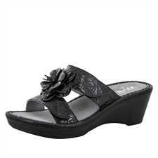 Alegria Lana Cowgirl Tar leather comfort wedge sandal for women