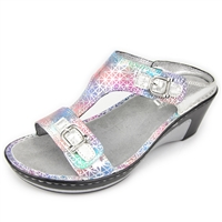 Alegria Lara Pretty Baby leather comfort wedge sandal for women