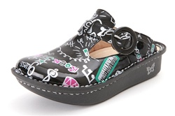 Alegria Kids Lena Classic Rock Star Black shoes for girls