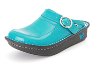 Alegria Kids Louise Seville Teal Patent comfort shoe for girls