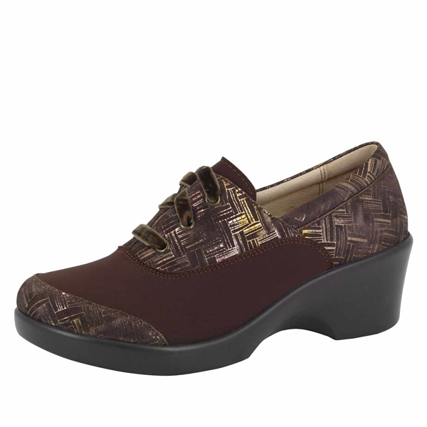 Alegria Madi Interlockin Choco stain resistant comfort shoes for women