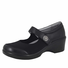 Alegria Maya Black Nappa stain resistant comfort shoes for women