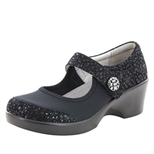 Alegria Maya Tile Me More Black stain resistant comfort shoes for women