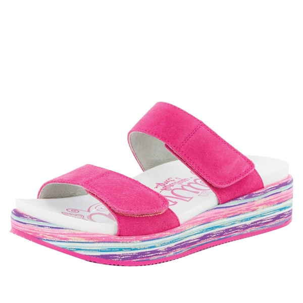Alegria Mixie Fuchsia Party comfort sandals for women