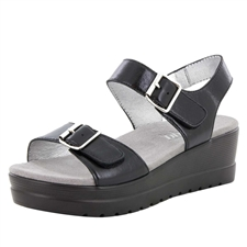 Alegria Morgyn Black Mirror comfort sandals for women