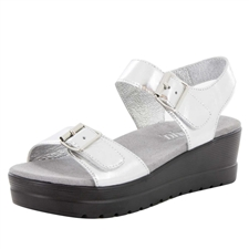 Alegria Morgyn Silver Mirror comfort sandals for women