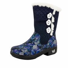 Alegria Nanook Winter Garden Navy Mid Calf Boot