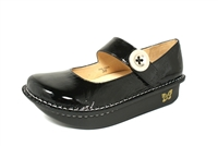 Alegria Paloma Brilliant Black Patent leather comfort shoe for women