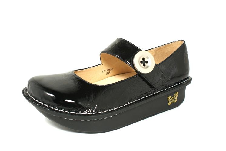 Alegria Paloma Brilliant Black Patent Alegria Shoe