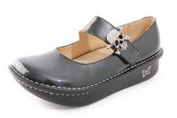 Alegria Paloma Charcoal Patent comfort mary jane shoe for women