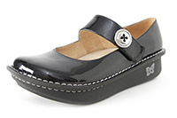 Alegria Paloma Black Glitter Patent leather mary jane for women