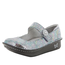 Alegria Paloma Fandamonium blue mary jane comfort shoes for women with slip resistant bottoms
