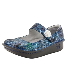 Alegria Paloma Fandamonium Blues blue mary jane comfort shoes for women with slip resistant bottoms