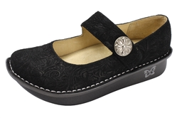 Alegria Paloma Black Impress womens leather comfort mary jane shoe