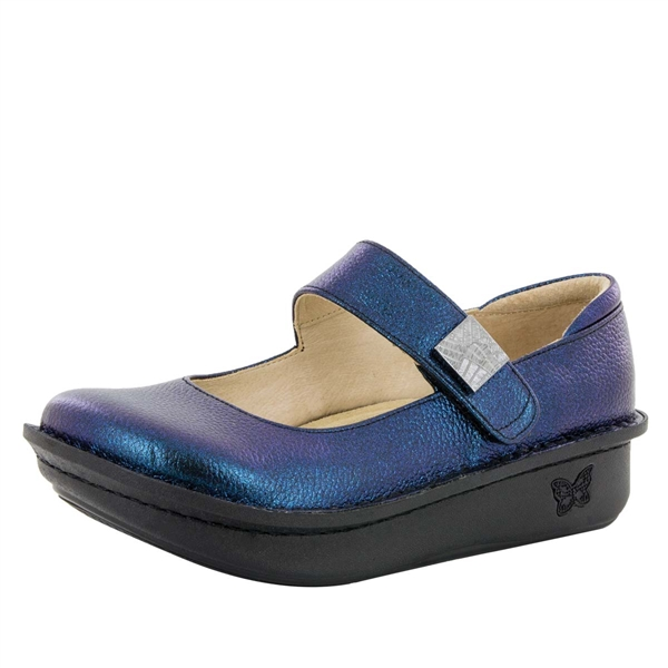 Alegria Paloma Starlit blue mary jane comfort shoes for women with slip resistant bottoms