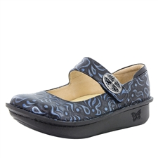 Alegria Paloma Gothic Steel comfort mary jane shoes for women with slip resistant bottoms