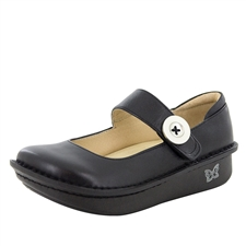 Alegria Paloma Black Napa womens leather nursing mary jane shoes