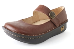 Alegria Paloma Brown Magic leather comfort nursing shoes for women
