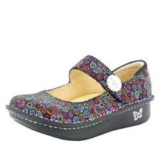 Alegria Paloma Wallflower blue mary jane comfort shoes for women with slip resistant bottoms