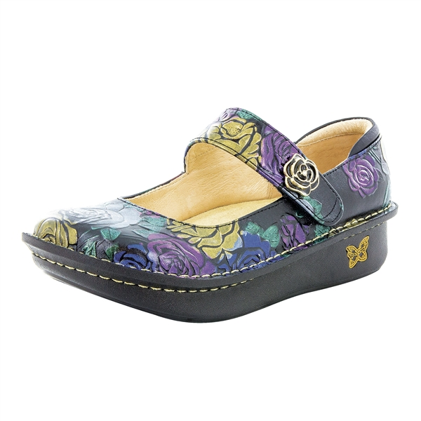Alegria Paloma Workwomanship blue mary jane comfort shoes for women with slip resistant bottoms