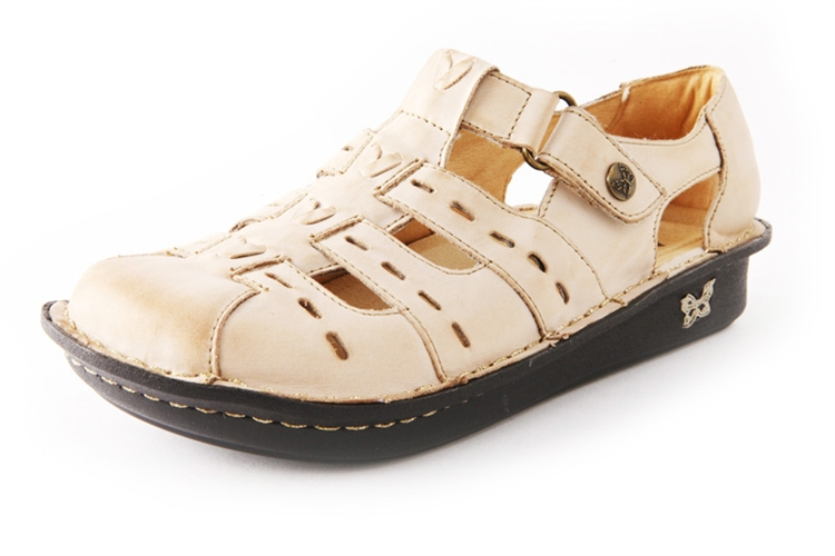 Alegria Pesca Almond womens leather low profile comfort shoe · View Larger  Photo Email ...