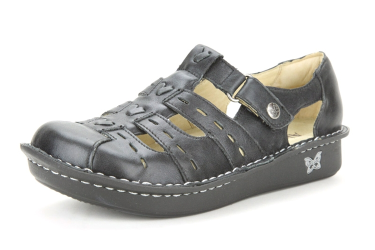 Alegria Pesca Black Magic womens leather comfort shoe sandal · View Larger  Photo Email ...